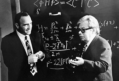 Bogolyubov (right), Soviet Physicist Poster
