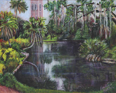 Poster featuring the painting Bok Tower by Pauline  Kretler
