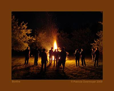 Poster featuring the photograph Bonfire by Patricia Overmoyer