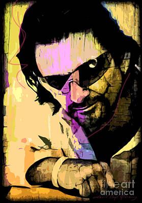 Bono Poster by David Lloyd Glover