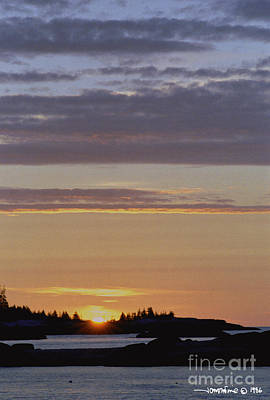 Boothbay Maine Sunrise 1 Poster