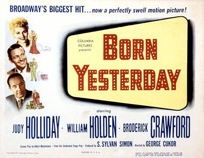 Born Yesterday, Broderick Crawford Poster