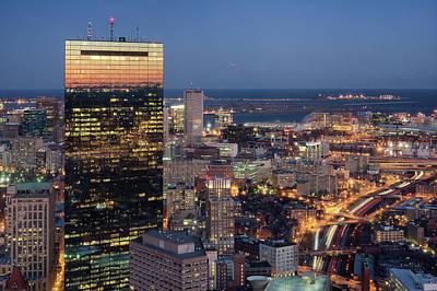 Boston By Night. Poster