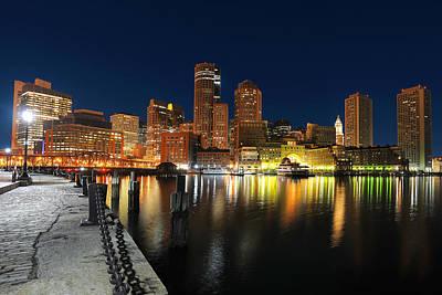 Boston Harbor Skyline  Poster by Shane Psaltis