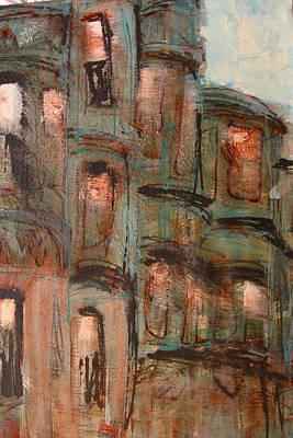 Boston Houses Poster by Romina Diaz-Brarda
