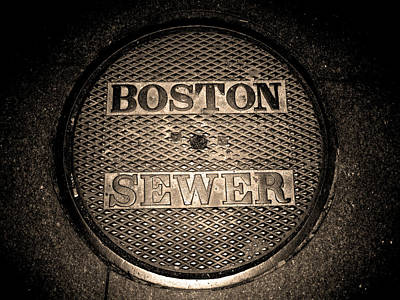 Boston Sewer Poster by Sheryl Burns
