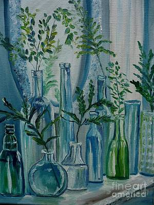 Poster featuring the painting Bottle Brigade by Julie Brugh Riffey