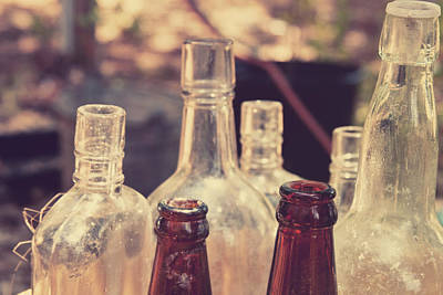 Bottles Behind The Old Saloon Poster