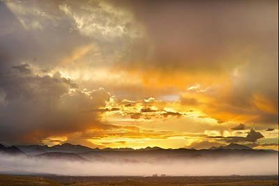 Boulder Colorado Flagstaff Fire Sunset View Poster