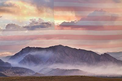 Boulder Colorado Flatirons And The Flagstaff Fire Usa Poster