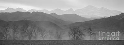 Boulder County Colorado Layers Panorama Bw Poster