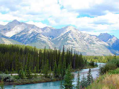 Bow River Near Canmore Alberta Poster
