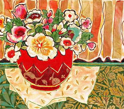 Bowl And Blossoms Poster by Diane Fine