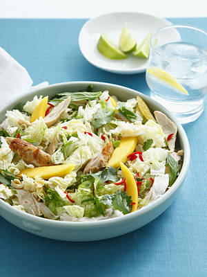 Bowl Of Chicken And Mango Salad Poster