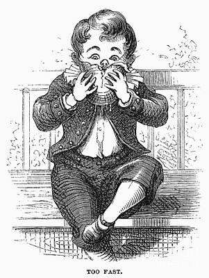 Boy Eating Poster by Granger