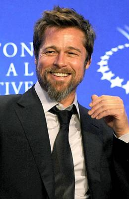 Brad Pitt At A Public Appearance Poster