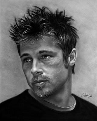 Brad Pitt Drawing Poster by John Harding