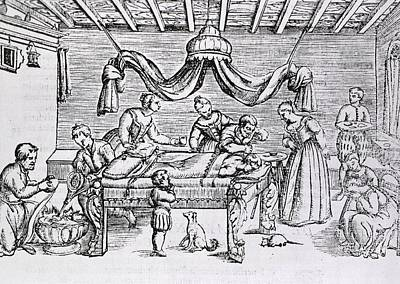 Brain Surgery In The 16th Century.  A Poster by Everett