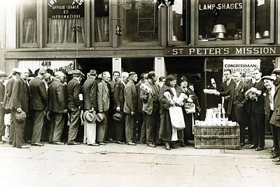 Breadline For The Needy In New York Poster by Everett