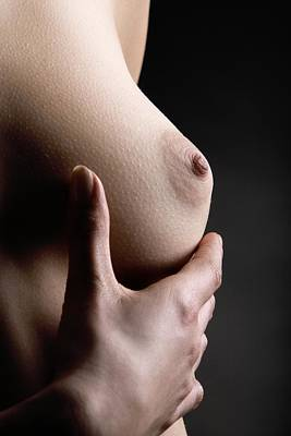 Breast Self-examination Poster by Mauro Fermariello