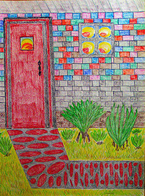 Brick House Poster by Robyn Louisell