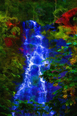 Poster featuring the painting Bridal Veil Falls by Michael Cleere