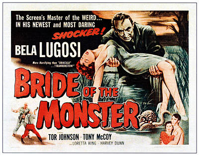 Bride Of The Monster, Top Bela Lugosi Poster by Everett