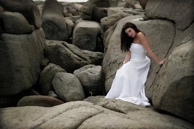 Bride On The Rocks Poster by Rick Berk