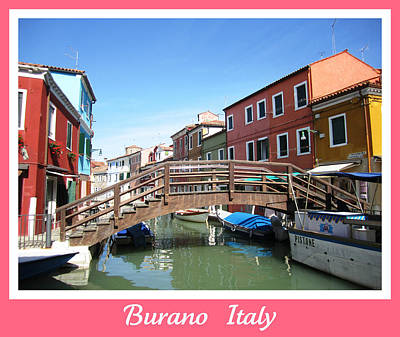 Bridge Crossing   Burano  Italy  Poster
