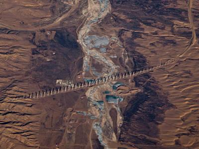 Bridge Project In Gobi Desert Poster by Victor Gil Gazapo