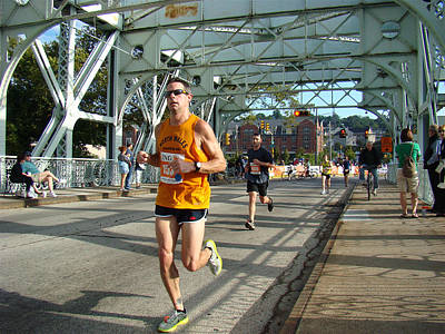 Poster featuring the photograph Bridge Runner by Alice Gipson