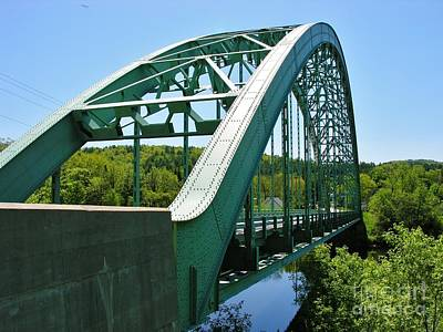 Poster featuring the photograph Bridge Spanning Connecticut River by Sherman Perry
