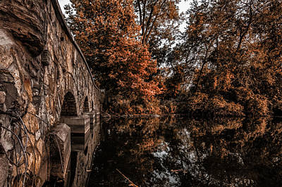 Poster featuring the photograph Bridge To Autumn by Tom Gort