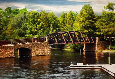 Bridge To Get Away Poster by Lourry Legarde