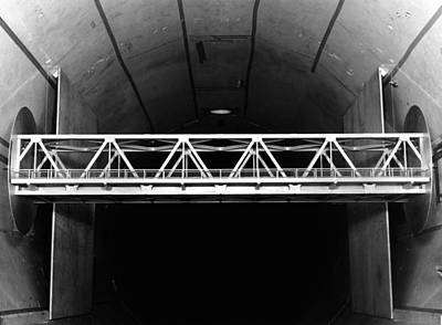 Bridge Wind Tunnel Test, 1954 Poster