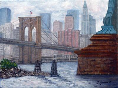 Bridges To Manhattan Poster by Victor Zucconi