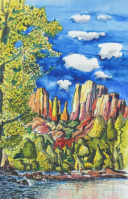 Poster featuring the painting Bright Spring Day by Terry Banderas