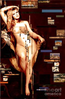 Brigitte Poster by Karine Percheron-Daniels