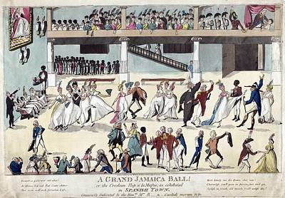 British Colonists Dancing And Served Poster by Everett