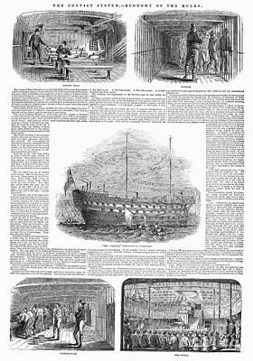 British Prison Ship, 1846 Poster