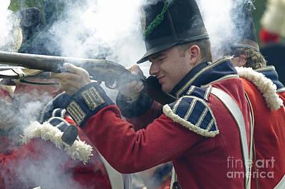 British Soldier Firing Poster