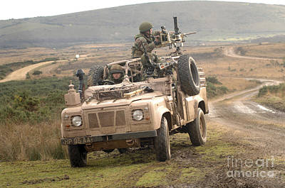 British Soldiers Operate A Pink Panther Poster by Andrew Chittock