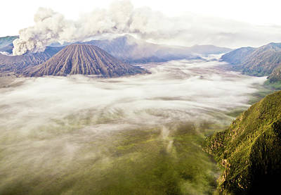 Bromo Volcano Crater Poster