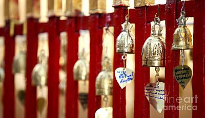 Bronze Bells In Doi Suthep Buddhist Temple Poster by Anek Suwannaphoom
