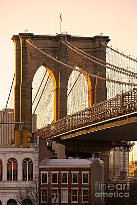 Poster featuring the photograph Brooklyn Bridge - New York by Luciano Mortula