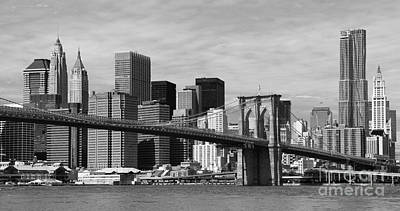Brooklyn Bridge And Skyline Poster by Holger Ostwald