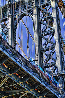 Manhattan Bridge Close-up Poster by David Smith