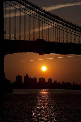Brooklyn Bridge Sunrise Poster by Bill Cannon