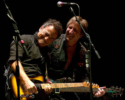 Bruce Springsteen And Danny Gochnour Poster by Jeff Ross