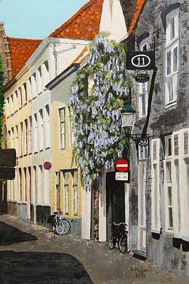 Bruges Wisteria Poster